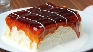 Milky Caramel Cake   Karamelli Trileçe Tarifi   Tirilece Pastry Cake   Eggless & Without Oven