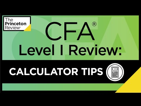CFA® Level I Review: Calculator Tips   The Princeton Review ...