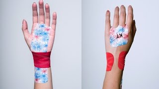 KT Tape Carpal Tunnel Syndrome Wrist Application