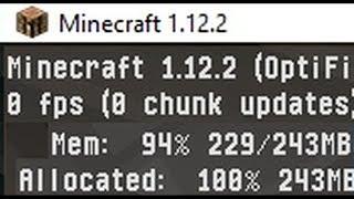 🚩 Minecraft использует мало памяти низкий FPS