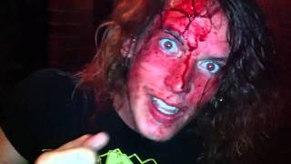 Guy Freaks out drenched in blood at metal gig