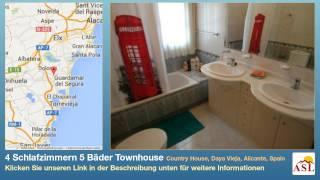 preview picture of video '4 Schlafzimmern 5 Bäder Townhouse zu verkaufen in Country House, Daya Vieja, Alicante, Spain'