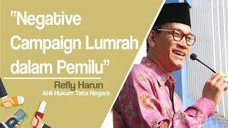 Refly Harun Sebut Kampanye Negatif Hal yang Lumrah saat Pemilu karena Beda dengan Black Campaign
