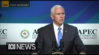 Mike Pence: US will partner with Australia and PNG on naval base - FULL SPEECH | ABC News