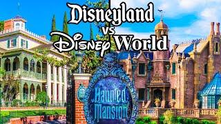 Top Walt Disney World Rides Vs Disneyland Rides Pt4 - Haunted Mansion, Mark Twain & The Train