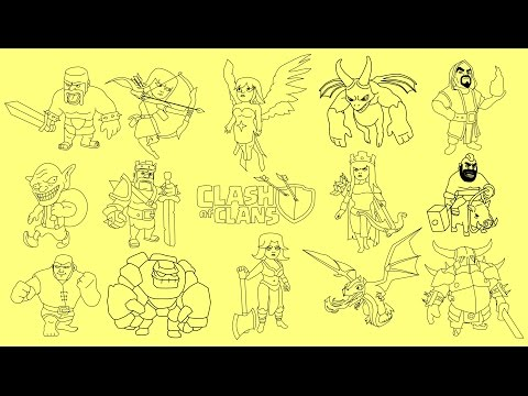 how to draw clash of clans characters step by step