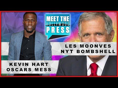 Kevin Hart Oscars Mess; Les Moonves NYT Bombshell; Grammy-Golden Globes-- Meet The Hollywood Press