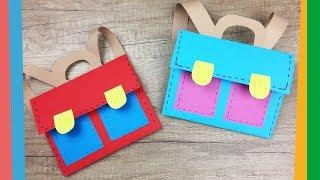 Back to school craft - Easy DIY paper School backpack for kids