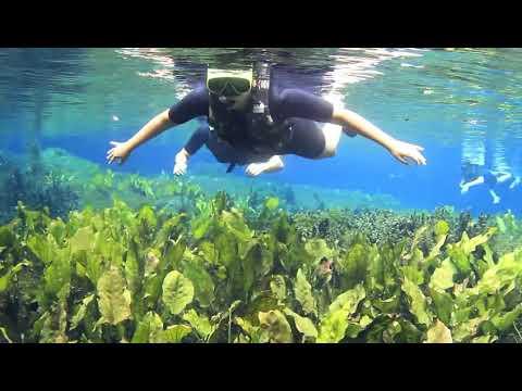 Flutuação em Bonito, MS.