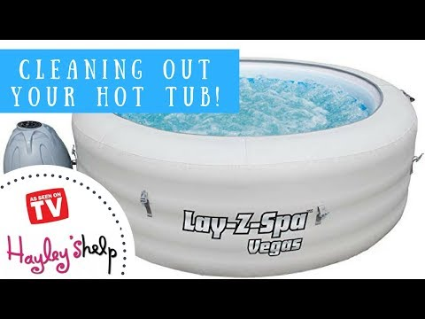 How To Clean & Deflate Your Lay Z Spa Hot Tub! #1TV Cleaning Expert Hayley Leitch