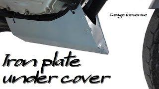 【バイクDIY】#8 鉄板でアンダーカバーを作る
