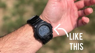 The reason MILITARY guys WEAR their WATCH like this???