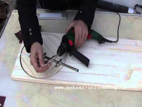 Sierra para orificio ajustable para trabajo en madera Ø 40-120mm
