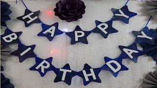 DIY Star Galaxy Birthday Banner| DIY Birthday Party Decorations| Space Theme Birthday Banner