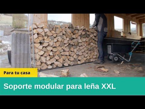 Wolfcraft 5125000 - 1 soporte modular para leña XXL de 25 - 50 cm