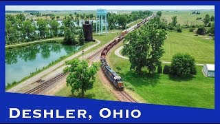 Railfanning Deshler, Ohio, with a Drone
