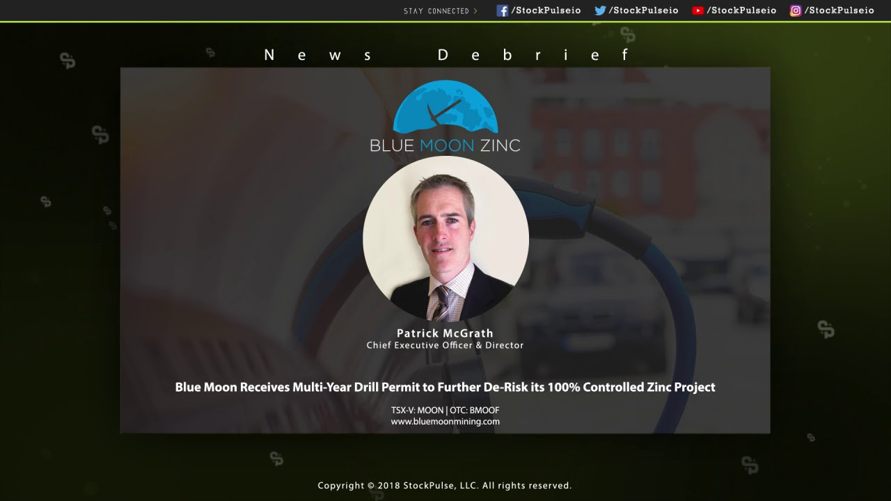 Blue Moon Receives Multi-Year Drill Permit to Further De-Risk its 100% Controlled Zinc Project