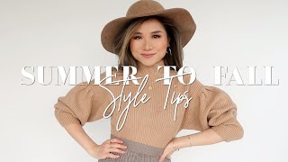 5 Easy SUMMER to FALL Styling Tips & Outfit Ideas   Summer to Fall Transition Outfits   Miss Louie