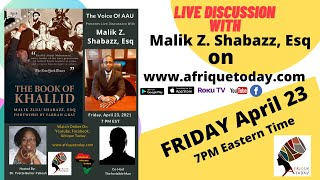 Live Discussion with Malik Z. Shabazz, Esq
