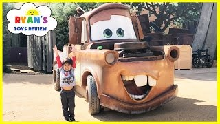 GIANT TOW MATER Life Size DISNEY CARS Family Fun Arts Of Animation Hotel Tour Playground For Kids