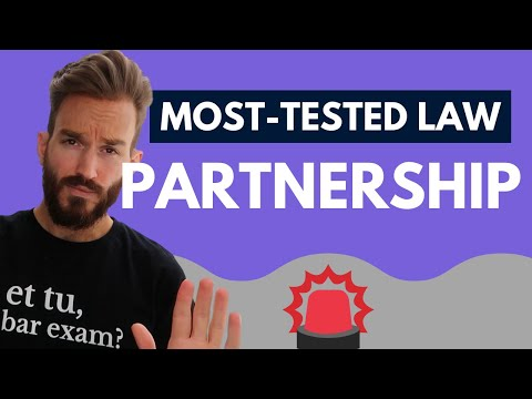 Business Associations Bar Review (Partnership): Most Tested Areas of Law on the Bar Exam [PREVIEW]