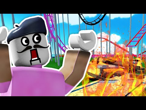 ROLLER COASTER RIDE GONE WRONG!! | Roblox