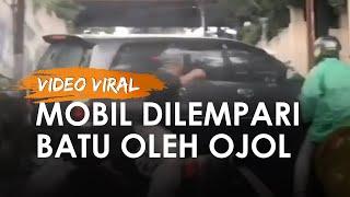 Kronologi Video Viral Mobil Innova Dilempari Batu oleh Pengemudi Ojol, Ternyata Karena Mencuri Sabun