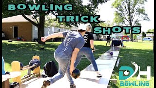 BOWLING TRICK SHOTS | BACKYARD EDITION