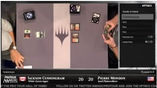 Pro Tour Magic 2015 - Semifinals - Jackson Cunningham vs. Pierre Mondon