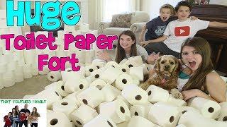 HUGE INDOOR TOILET PAPER FORT / That YouTub3 Family