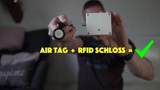 Apple AirTag als Schlüssel für unsichtbares, elektrisches IKEA RFID Schloss an Möbeln - deutsch