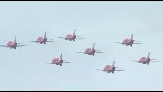 preview picture of video 'Bournemouth Air Festival 2014 - Red Arrows Full Display - Saturday'