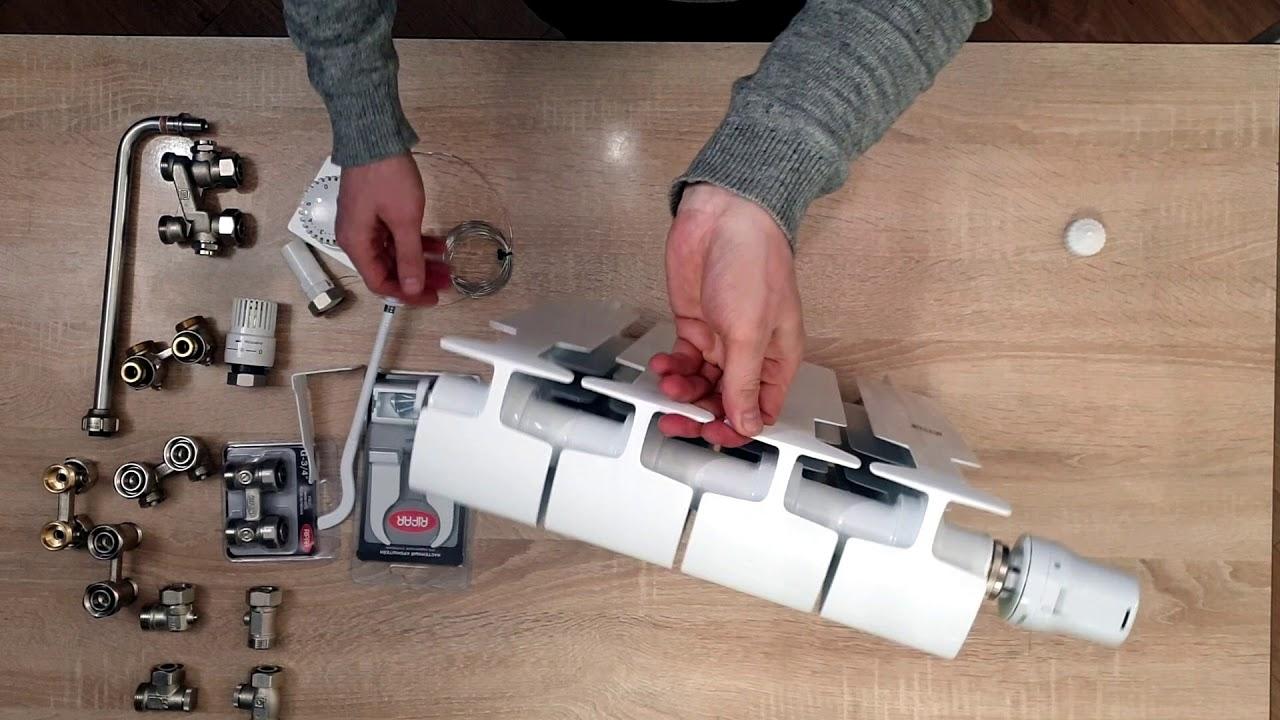 Конструкция RIFAR MONOLIT VENTIL.Радиатор отопления с нижним подключением