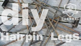 How To Make Hairpin Legs From Rebar   Welding 101