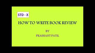 HOW TO WRITE BOOK REVIEW (Std -10)