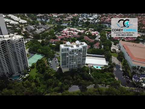 Pelican Bay St. Tropez Naples Florida 360 degree fly over video