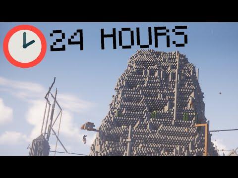 在2b2t伺服器裡生存24小時