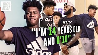 """""""I'm 14 And I'm Taller Than LeBron."""" 8th Grader Jahzare Jackson Is 6'10"""" & The Next SHAQ 😱"""