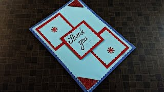Thank you card ideas   how to make greeting cards   complete tutorial