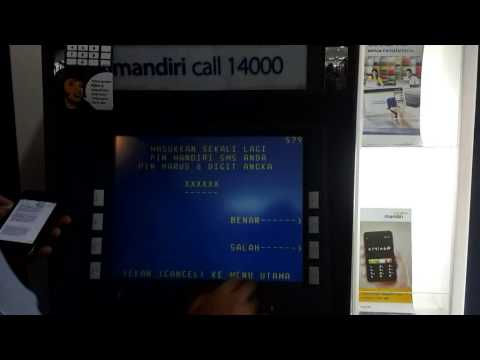 Video Cara daftar mobile banking Bank Mandiri di ATM