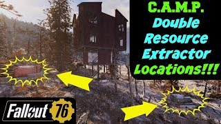 Fallout 76: C.A.M.P. Double Resource Extractor Locations!