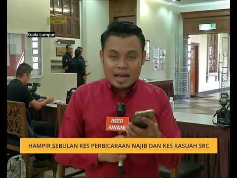 Hampir sebulan kes perbicaraan Najib dan kes rasuah SRC