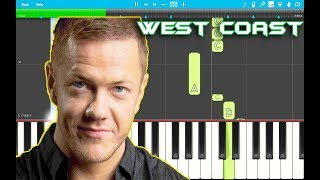 Imagine Dragons - West Coast Piano Tutorial EASY (Origins) Piano Cover