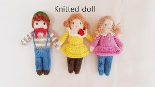 How to knit doll-litte boy Noah part 1       handmade knitted doll