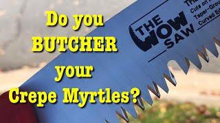 Pruning Crepe Myrtles In The Fall - EZ Kut Pruner
