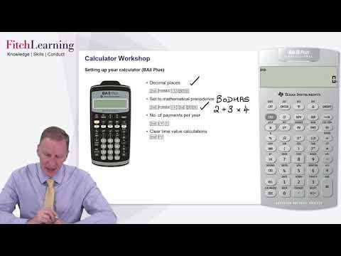 CFA Exam Calculator (BAII+) Introduction and Setup - YouTube