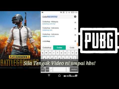 Cara Topup UC PUBG Mobile di Codashop (Malaysia)