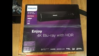 Philips BDP5502/F7 Blu-ray 4K 3D Player Unboxing/Review