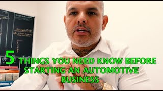 5 TIPS ON HOW TO START AN AUTOMOTIVE SHOP OR BODYSHOP.