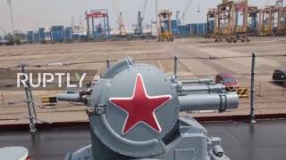 Indonesia: Russian missile cruiser Varyag docks in Jakarta for port visit